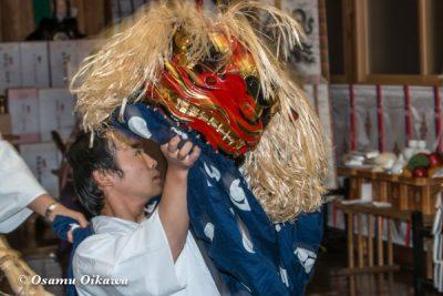 平成29年 北斗市 上磯八幡宮 本祭 松前神楽 十二の手獅子舞・五方