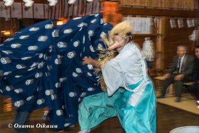 平成29年 北斗市 上磯八幡宮 本祭 松前神楽 十二の手獅子舞 面足獅子