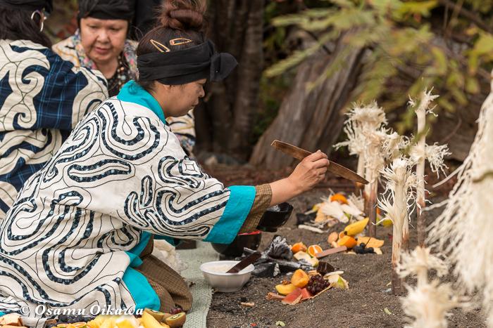 平成29年 新ひだか町 真歌公園 シャクシャイン法要祭 先祖供養祭 シンヌラッパ チャルパ