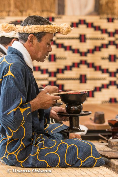 平成29年 新ひだか町 真歌公園 シャクシャイン法要祭 先祖供養祭 アペフチカムイへのシンヌラッパの終了を告げる
