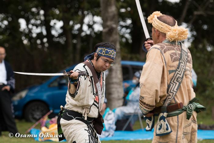 平成29年 新ひだか町 真歌公園 シャクシャイン法要祭 文化交流 アイヌ古式舞踊 エムシリムセ