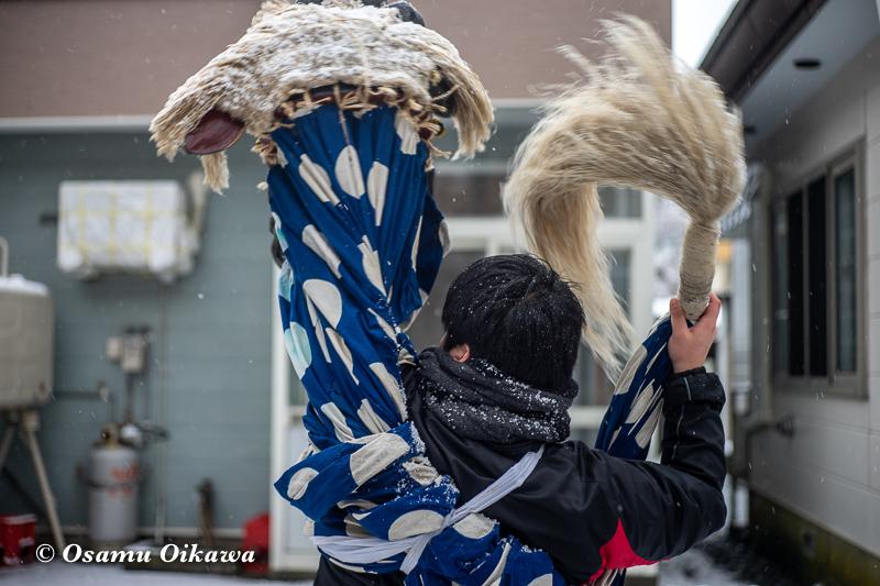 平成30年 松前町 原口八幡神社 新春門祓神事 獅子