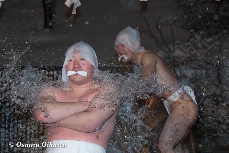平成30年 木古内町 佐女川神社 寒中みそぎ祭 参籠報告祭 最初の水垢離2