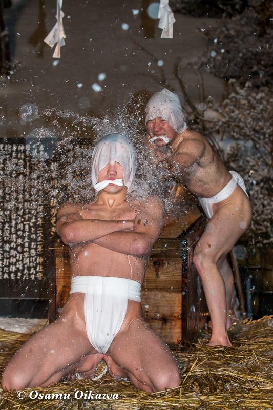 平成30年 木古内町 佐女川神社 寒中みそぎ祭 参籠報告祭 最初の水垢離6
