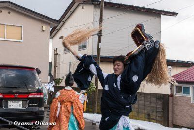 平成30年 松前町 清部八幡神社 門祓い 獅子