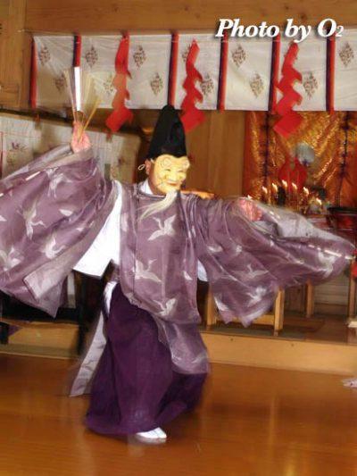 平成18年 函館市 上湯川稲荷神社 松前神楽 翁舞
