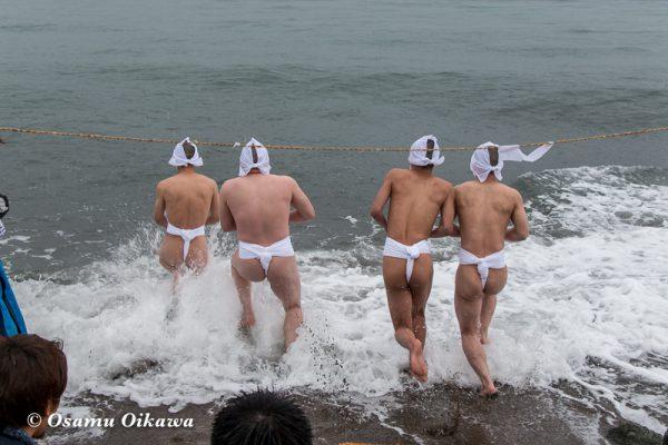 平成30年 木古内町 佐女川神社 寒中みそぎ祭 15日 津軽桔梗へ 海水沐浴