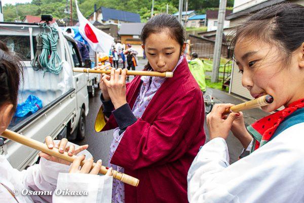 平成30年 美国町 美国神社 例大祭 山車 笛吹き