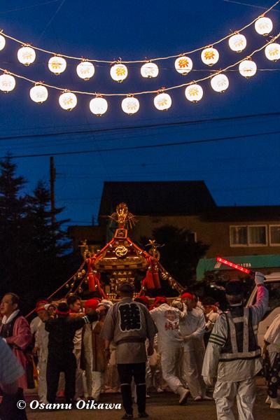 平成30年 美国町 美国神社 例大祭 神輿 神社に戻る