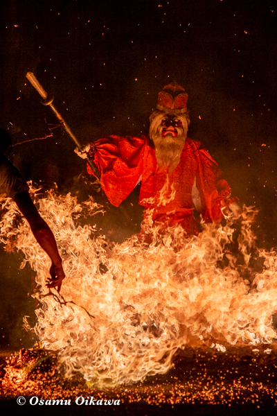 平成30年 美国町 美国神社 例大祭 火渡り 猿田彦