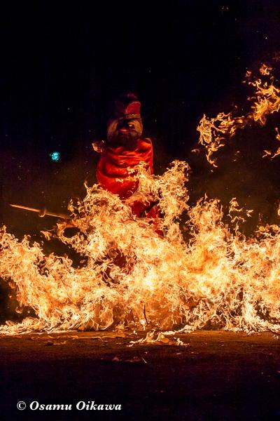 平成30年 美国町 美国神社 例大祭 火渡り 猿田彦2