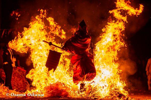 平成30年 美国町 美国神社 例大祭 2日目 猿田彦 天狗さん 火渡り