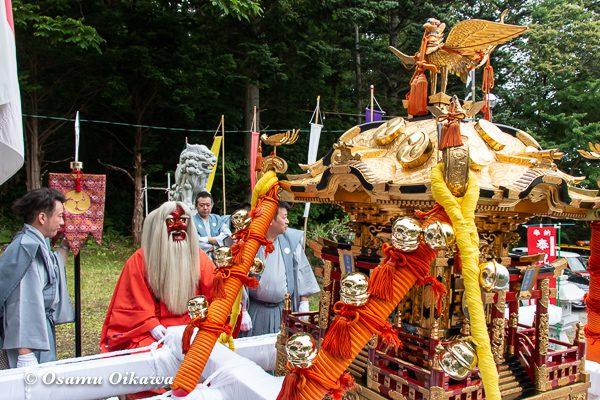 平成30年 古平町 琴平神社 例大祭 宵宮祭 神輿と猿田彦