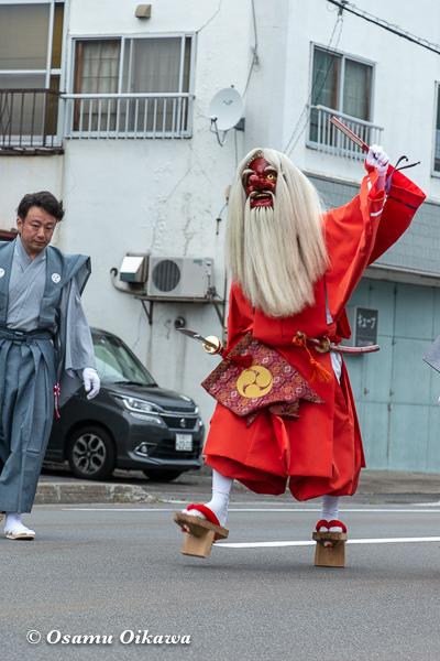 平成30年 古平町 琴平神社 例大祭 宵宮祭 猿田彦 練り歩き