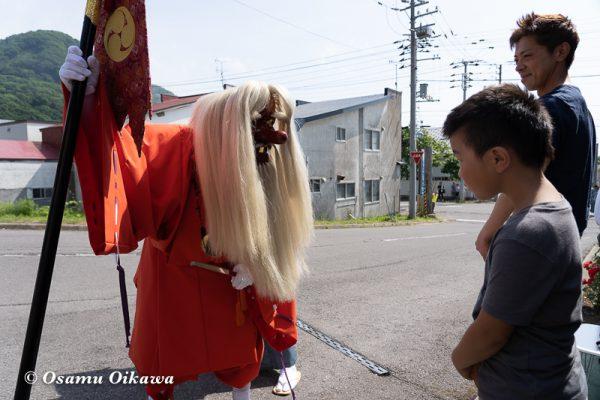 平成30年 古平町 琴平神社 例大祭 渡御祭 猿田彦 所作02