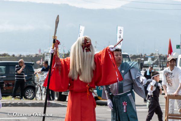 平成30年 古平町 琴平神社 例大祭 渡御祭 猿田彦 指摘