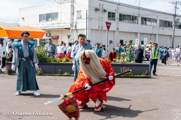 平成30年 古平町 琴平神社 例大祭 渡御祭 猿田彦 献酒所 所作