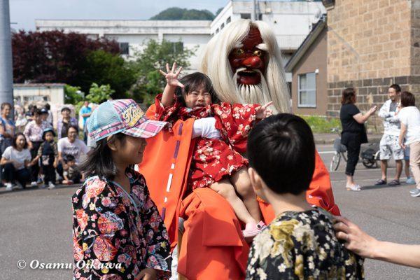 平成30年 古平町 琴平神社 例大祭 渡御祭 猿田彦 記念撮影