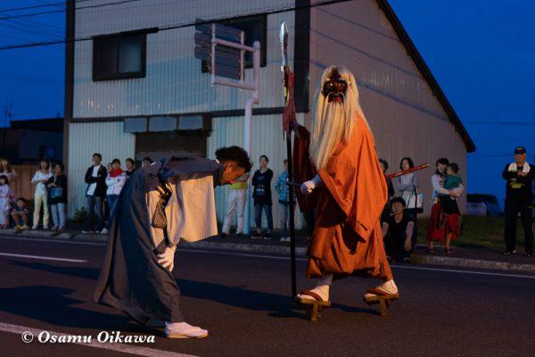 平成30年 古平町 琴平神社 例大祭 渡御祭 猿田彦 夕方の渡御03