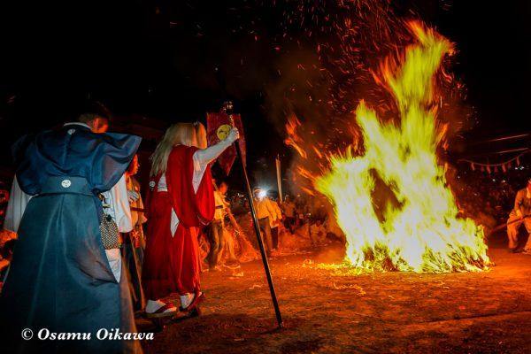 平成30年 古平町 琴平神社 例大祭 渡御祭 猿田彦 火渡り