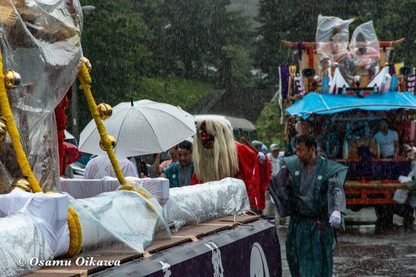 平成30年 古平町 琴平神社例大祭 二日目 渡御祭 雨 行列