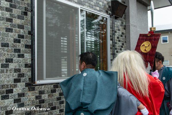平成30年 古平町 琴平神社例大祭 二日目 渡御祭 雨 窓 猿田彦