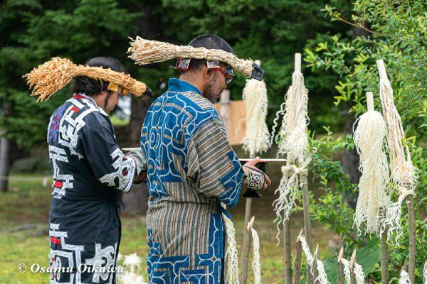 平成30年 平取町 チプサンケ アイヌ民族 祭壇 カムイノミ