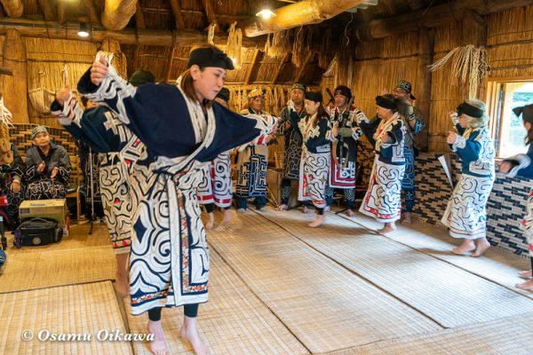 平成30年 平取町 チプサンケ アイヌ民族 アイヌ古式舞踊01
