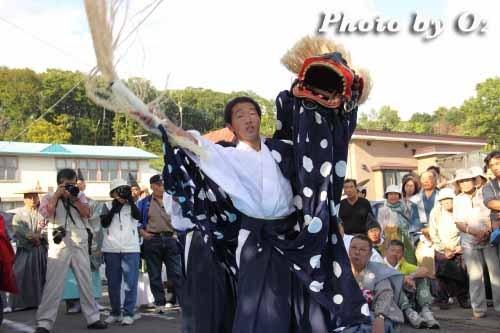 平成22年 今金町 今金八幡神社渡御祭 松前神楽 十二の手獅子舞 五方