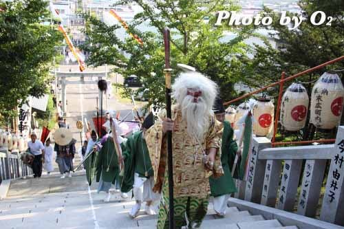 平成22年 今金町 今金八幡神社渡御祭 拝殿に入る猿田彦