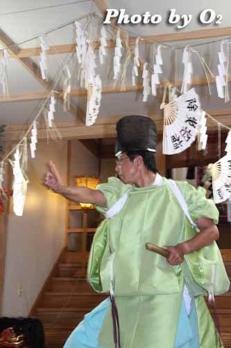 平成22年 今金町 今金八幡神社渡御祭 松前神楽 注連祓舞