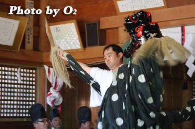 平成20年 松前町 松前神社本祭 松前神楽 十二の手獅子舞・五方