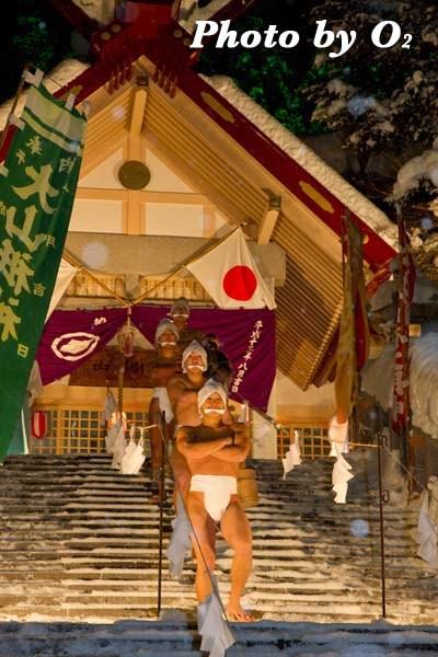 平成24年 木古内町 佐女川神社 寒中みそぎ祭 参籠報告祭 階段 初めての水垢離