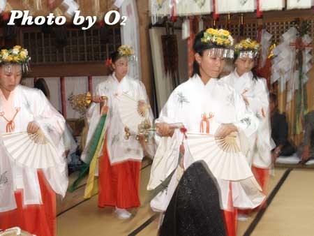 平成22年 函館市 尻岸内八幡神社宵宮祭 松前神楽 鈴上舞