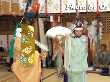 平成22年 函館市 尻岸内八幡神社宵宮祭 松前神楽 二羽散米舞
