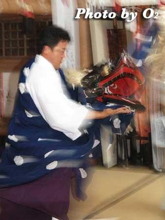 平成22年 函館市 尻岸内八幡神社宵宮祭 松前神楽 十二の手獅子舞五方