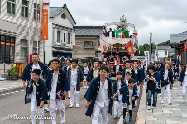 平成30年 江差町 姥神大神宮渡御祭 下町巡行 蛭子山 神社前へ02