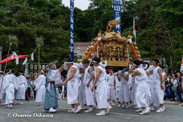 平成30年 江差町 姥神大神宮渡御祭 下町巡行 神社行列 神輿 出発