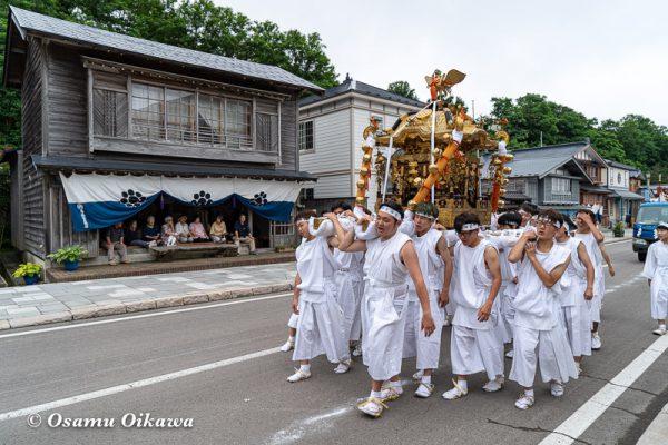平成30年 江差町 姥神大神宮渡御祭 下町巡行 神社行列 神輿