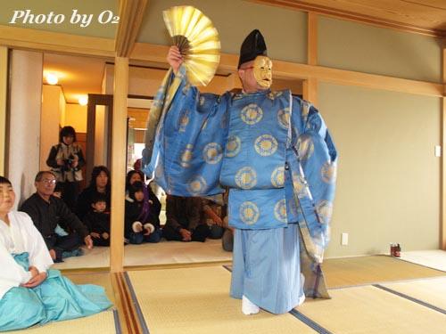 松前町 清部地区 招待神楽 松前神楽 翁舞 2006