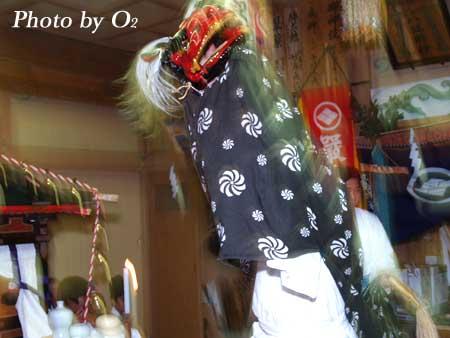 江差町 厳島神社 神楽舞 獅子舞 2006
