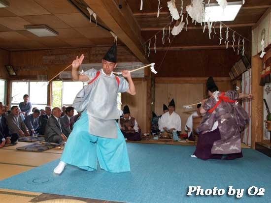 函館市 旧南茅部地区 安浦地区 安浦稲荷神社 松前神楽 神遊舞