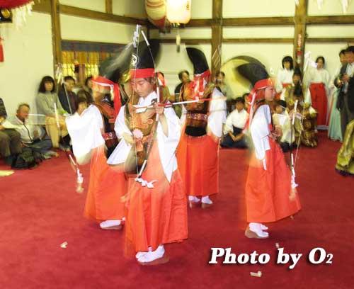 平成19年 小樽市 小樽ブロック合同公演 小樽稲荷神社 四箇散米舞