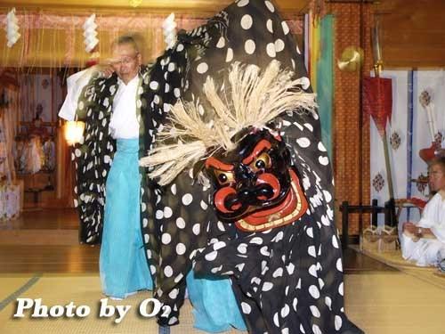 平成19年 福島大神宮 松前神楽 十二の手獅子舞・五方