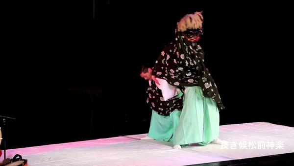 豪華客船 2015 松前神楽 十二の手獅子舞五方 二回目