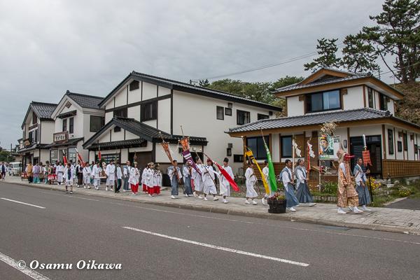 松前神社 宵宮祭 行列 平成28年