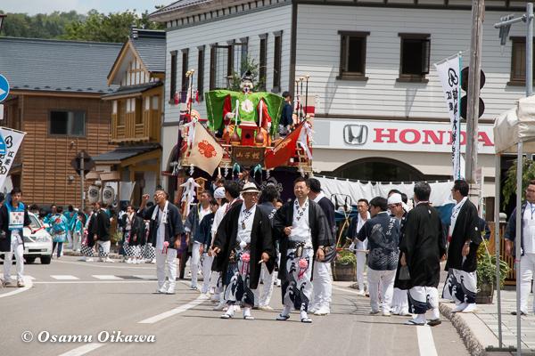 北海道,姥神大神宮渡御祭,山車,平成28年,江差町,下町巡行,蛭子山