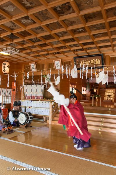H29 鹿部町 鹿部稲荷神社 本祭 松前神楽 榊舞