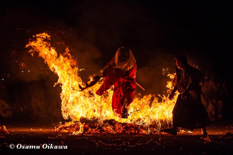 平成30年 古平町 琴平神社例大祭 二日目 渡御祭 猿田彦 火渡り