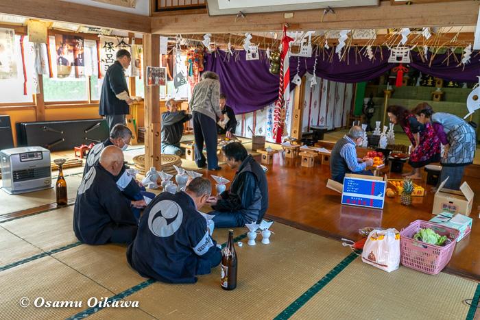 平成30年 秋田県 横手市 保呂羽山波宇志別神社里宮 準備